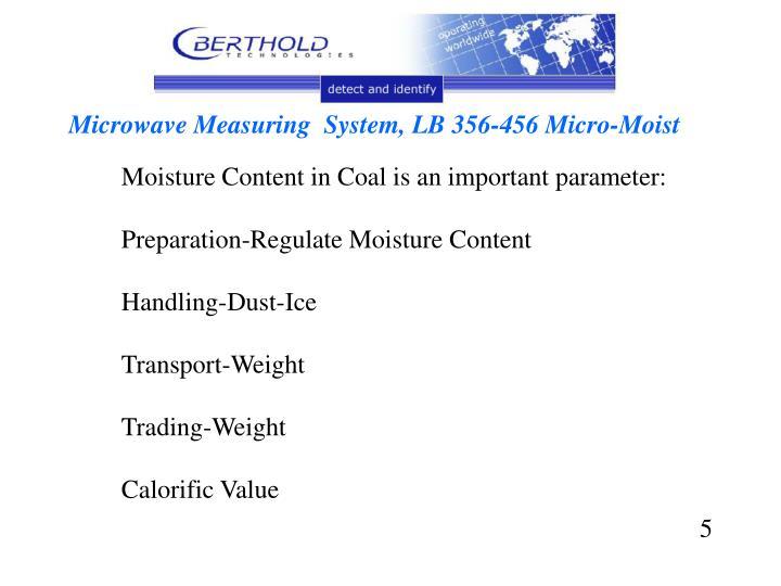 Microwave Measuring  System, LB 356-456 Micro-Moist