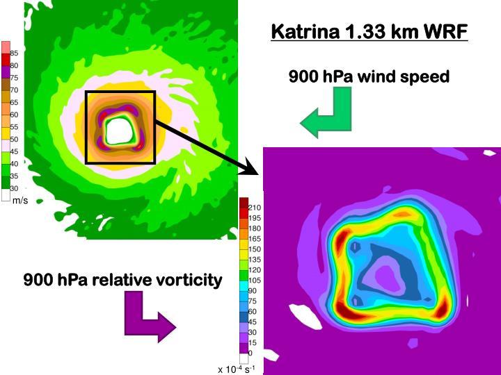 Katrina 1.33 km WRF