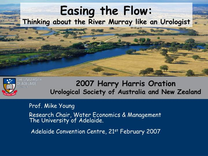2007 harry harris oration urological society of australia and new zealand