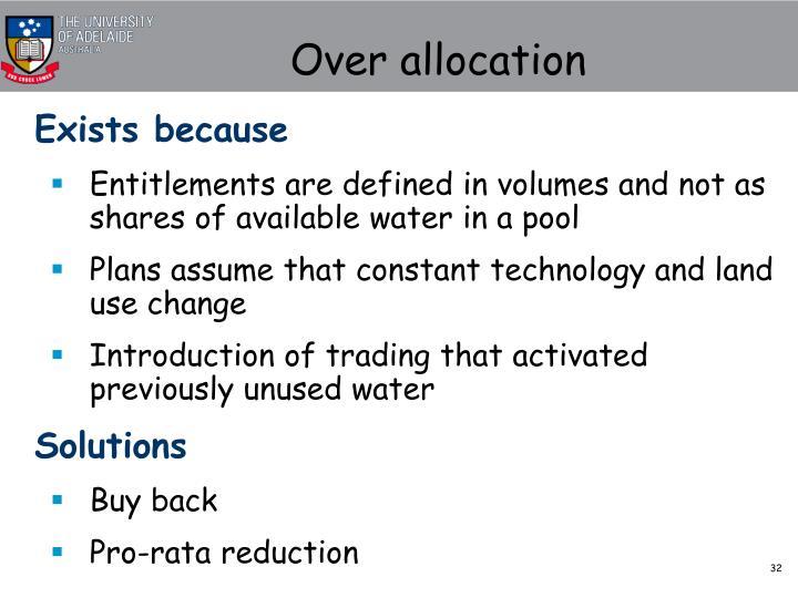 Over allocation