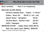 pricing recycled water