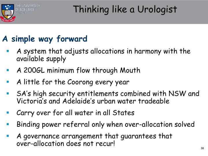 Thinking like a Urologist