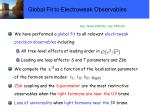 global fit to electroweak observables