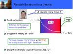 randall sundrum for a theorist
