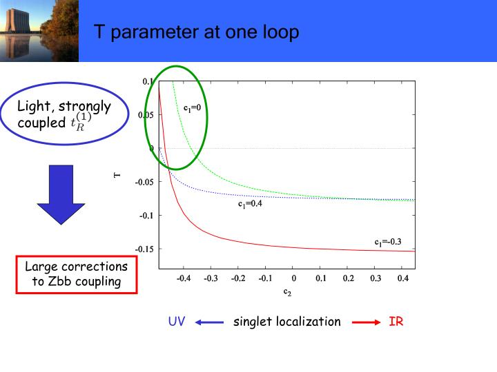 T parameter at one loop