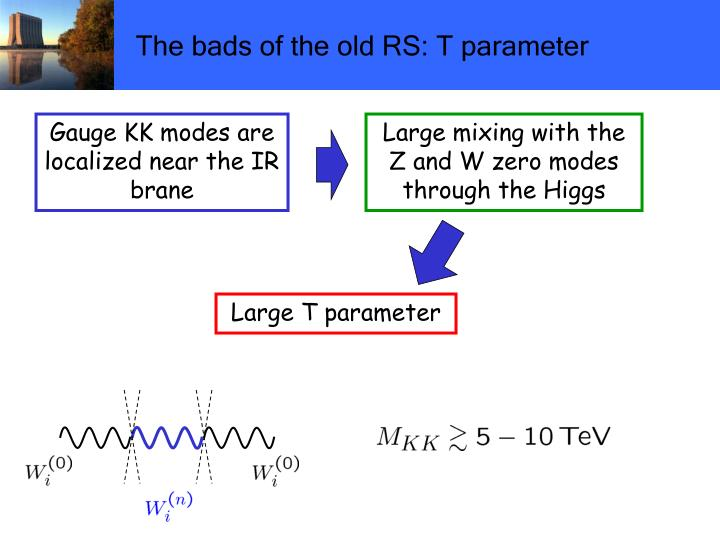 The bads of the old RS: T parameter