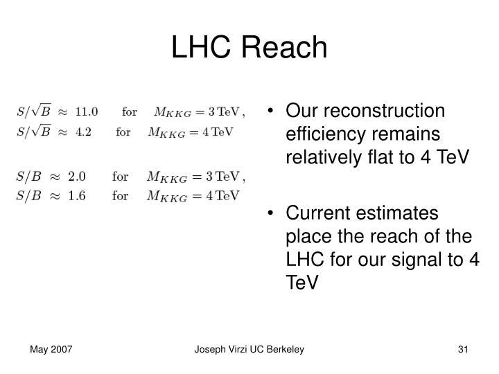 LHC Reach