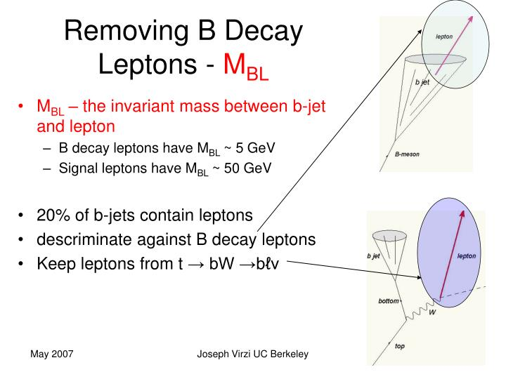 Removing B Decay Leptons -