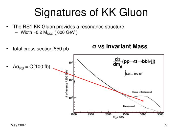 Signatures of KK Gluon