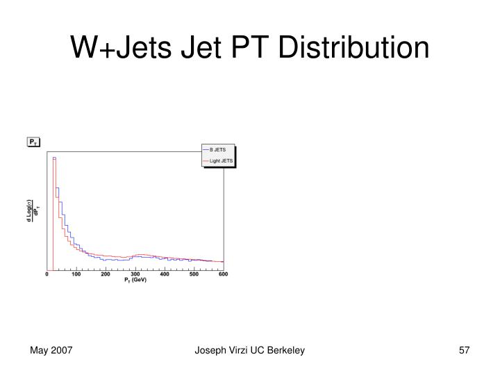 W+Jets Jet PT Distribution