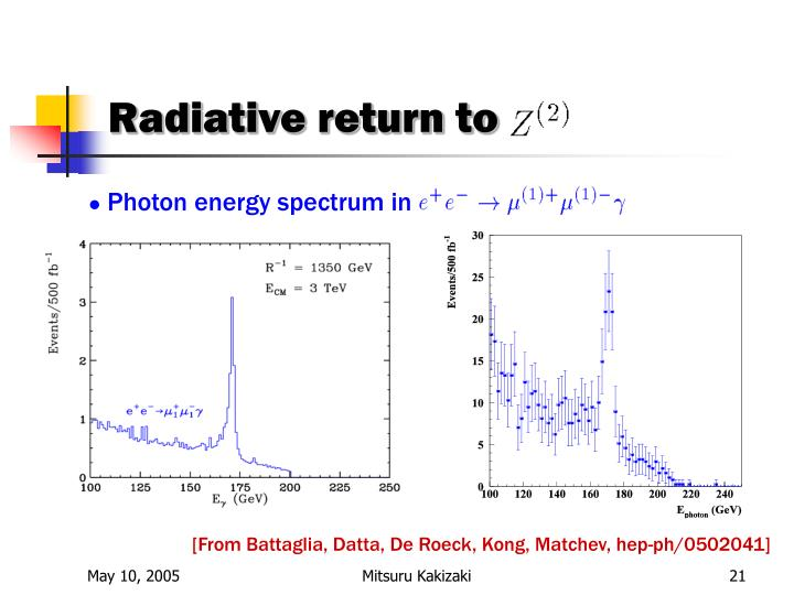 Radiative return to
