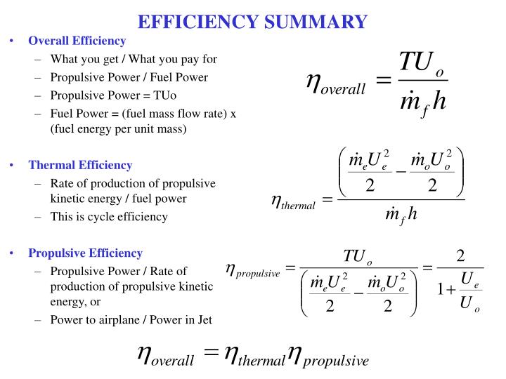 EFFICIENCY SUMMARY