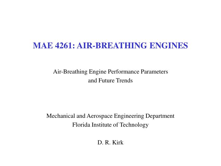 Mae 4261 air breathing engines