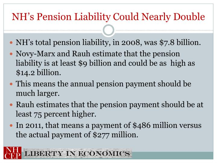NH's Pension Liability Could Nearly Double