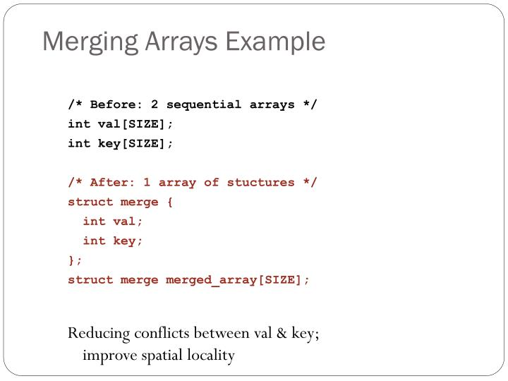 Merging arrays example