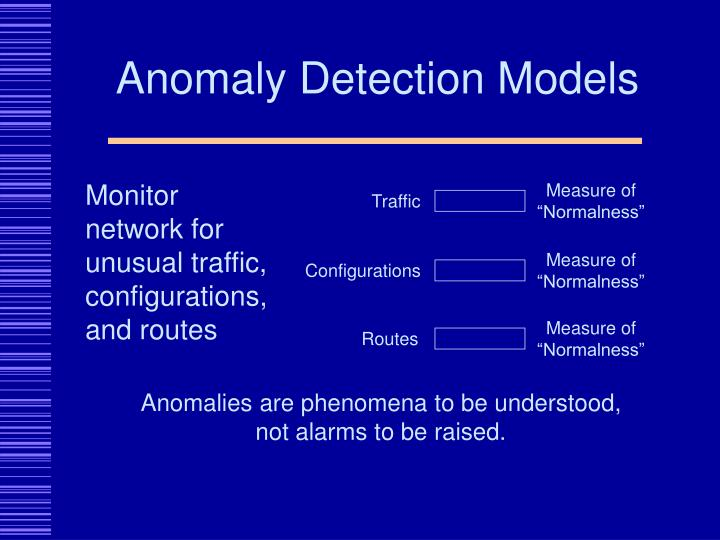 Anomaly Detection Models