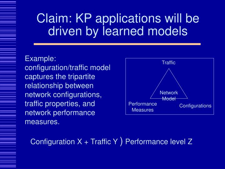 Claim kp applications will be driven by learned models