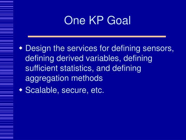 One KP Goal