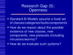 research gap 5 openness