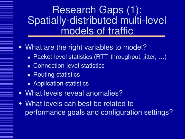 Research Gaps (1):