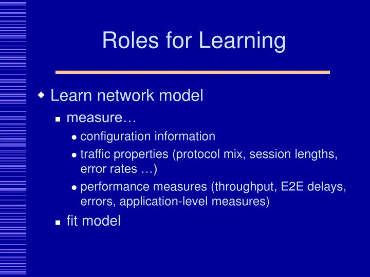 Roles for Learning