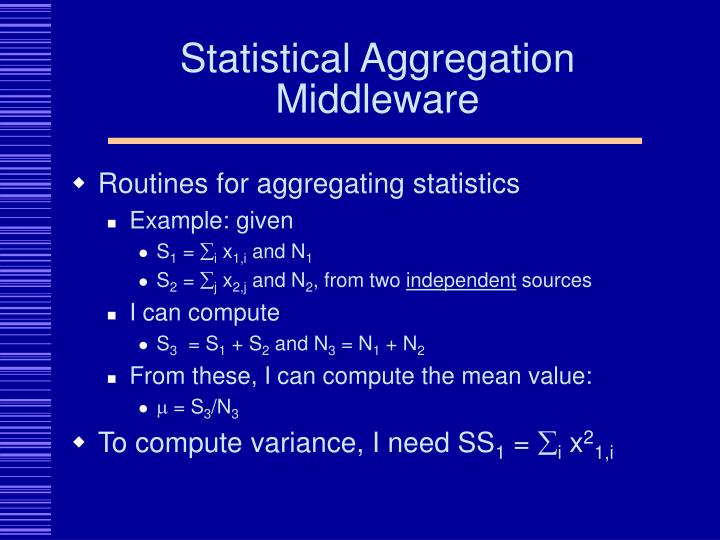 Statistical Aggregation Middleware