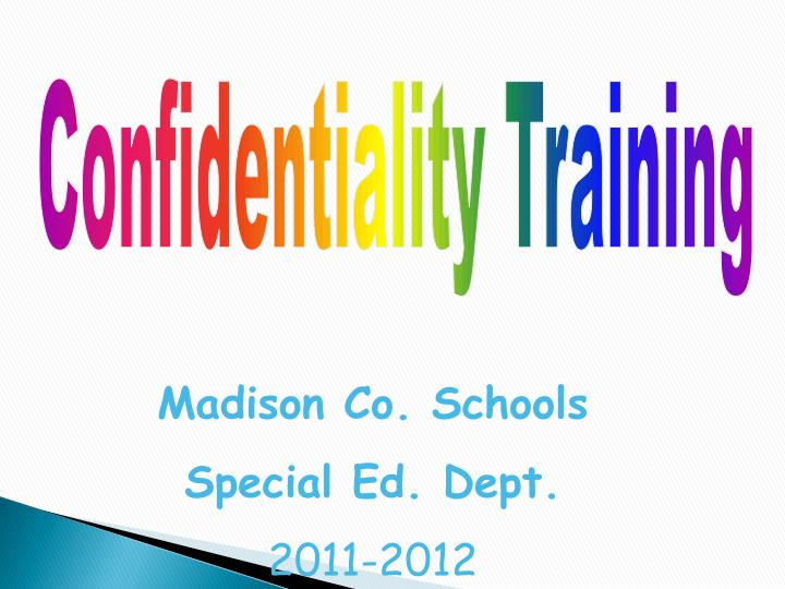 Confidentiality Training