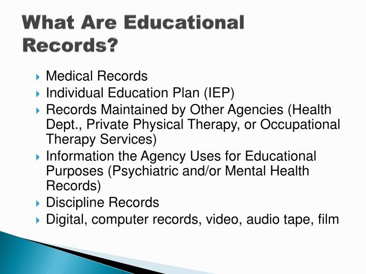 What Are Educational Records?