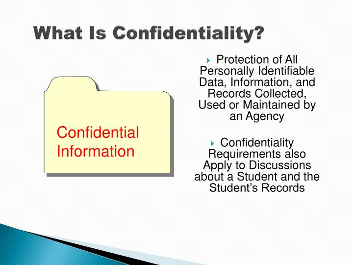 What Is Confidentiality?