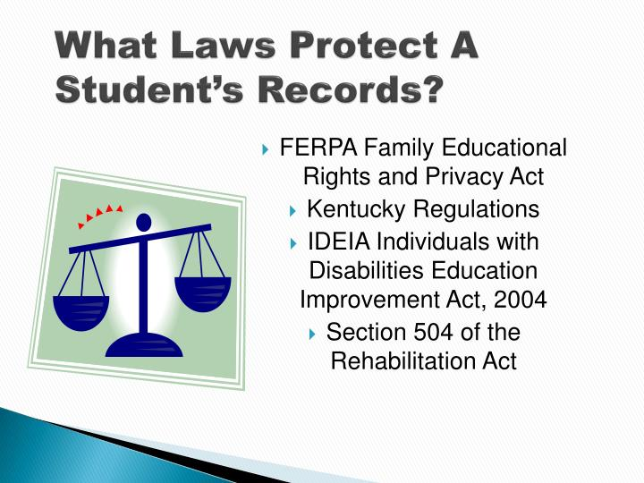 What Laws Protect A Student's Records?