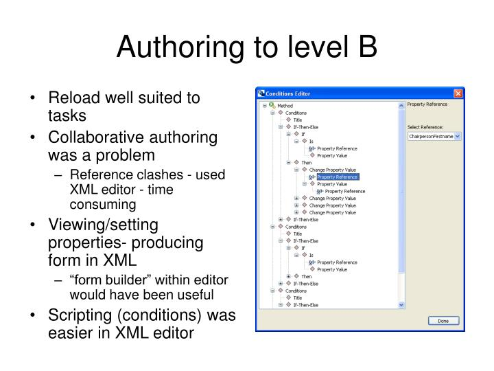 Authoring to level B
