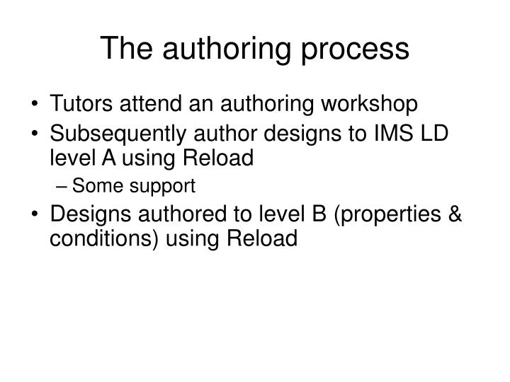 The authoring process