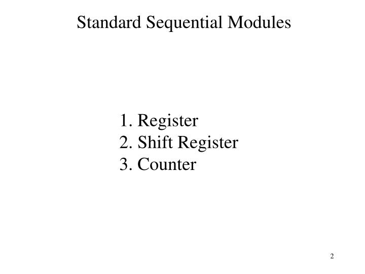 Standard sequential modules