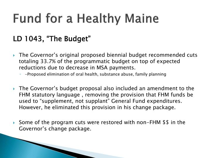 Fund for a Healthy Maine