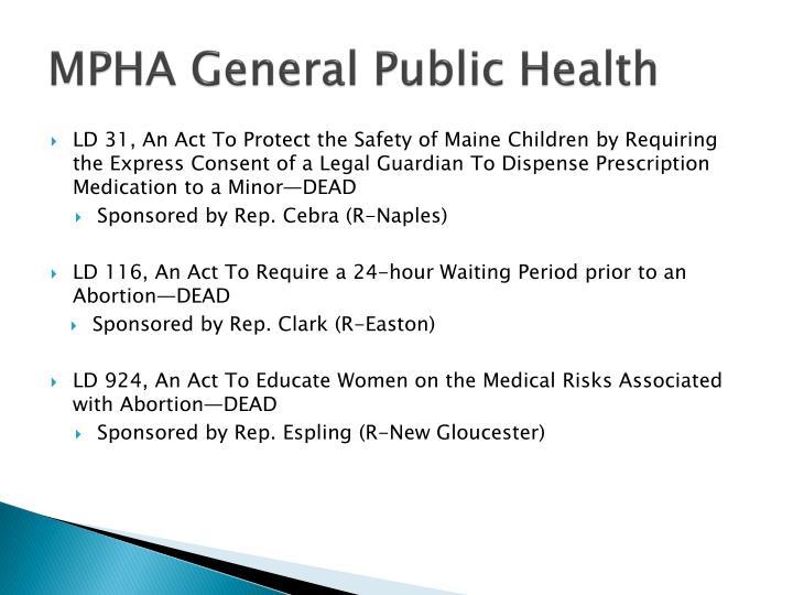 MPHA General Public Health