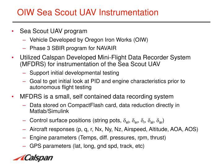 OIW Sea Scout UAV Instrumentation