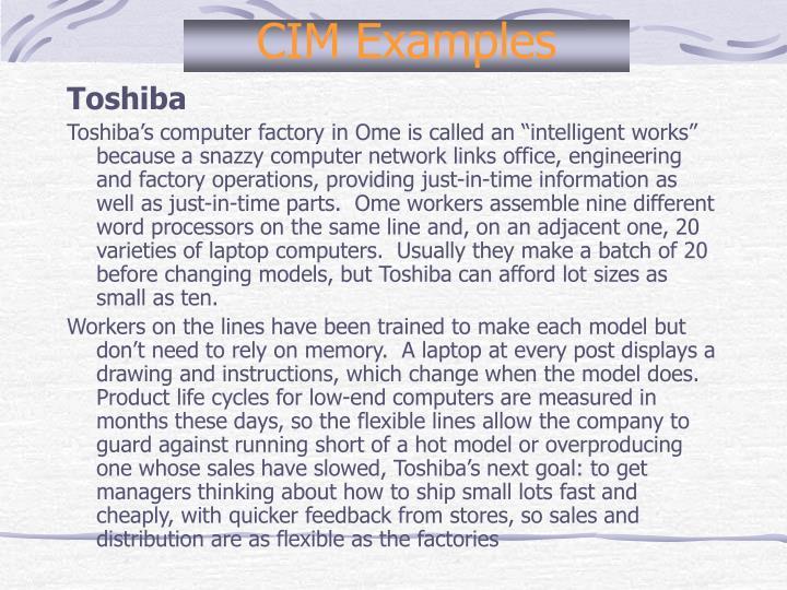 CIM Examples