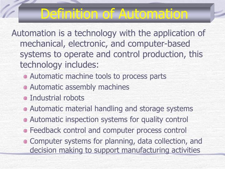 Definition of automation