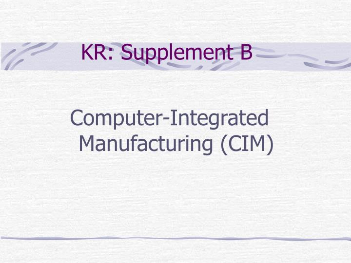 Kr supplement b