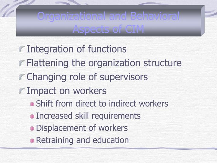 Organizational and Behavioral Aspects of CIM