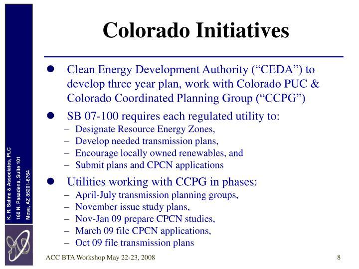 Colorado Initiatives