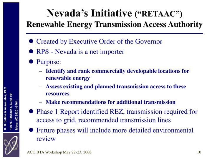 Nevada's Initiative