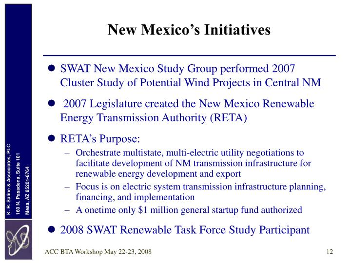 New Mexico's Initiatives