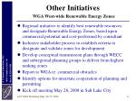 other initiatives wga west wide renewable energy zones