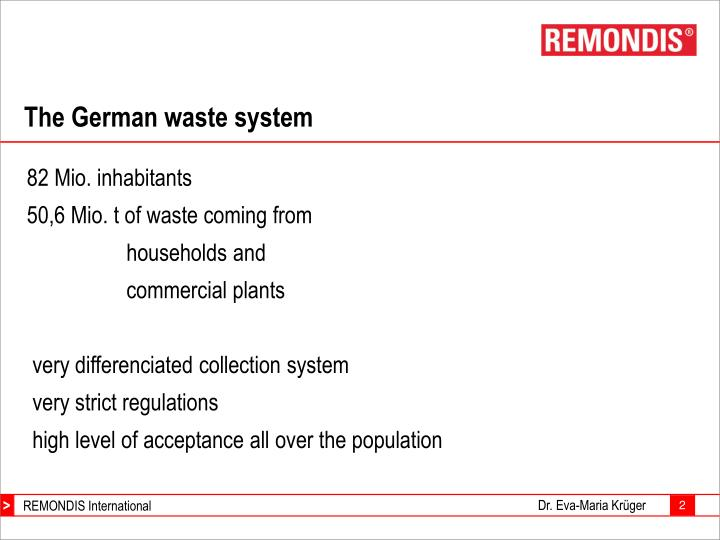The german waste system