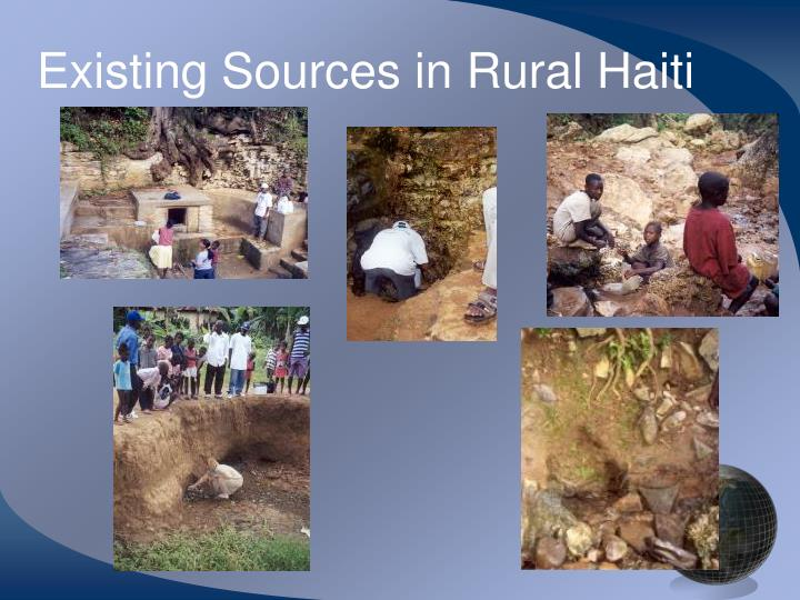 Existing Sources in Rural Haiti