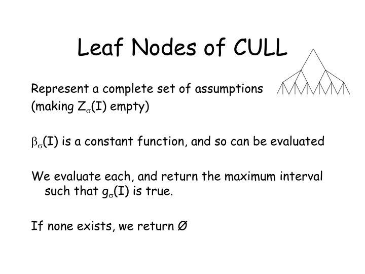 Leaf Nodes of CULL