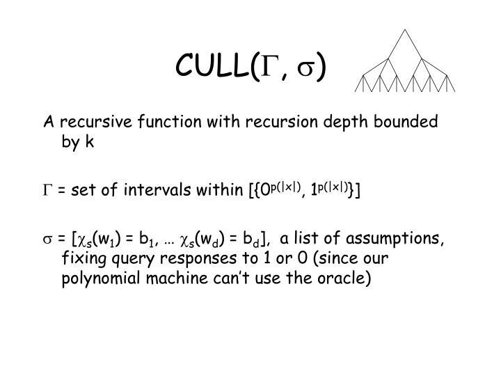CULL(