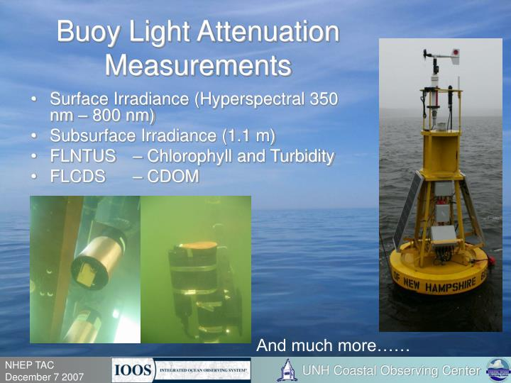 Buoy Light Attenuation Measurements