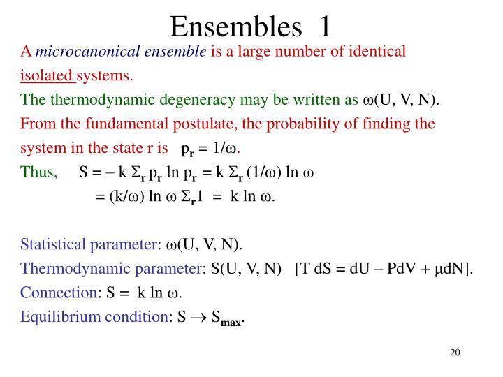 Ensembles  1